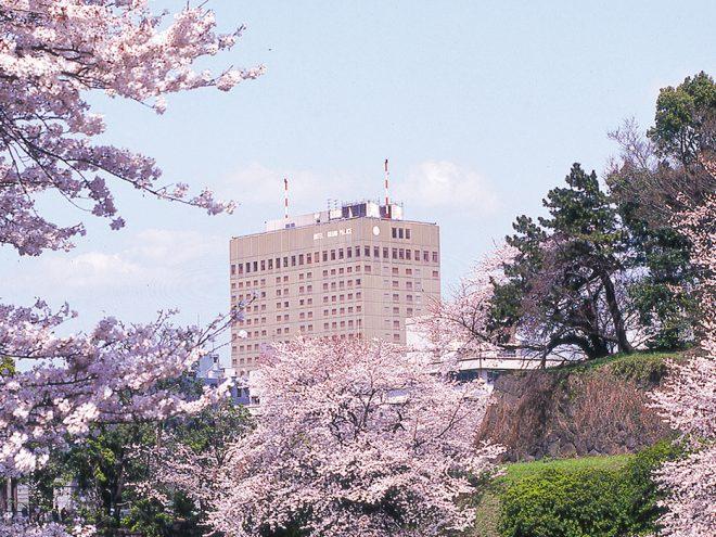 ホテルグランドパレス 外観 春