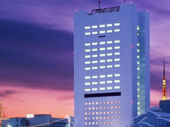 ベイサイドホテルアジュール竹芝 外観 夜