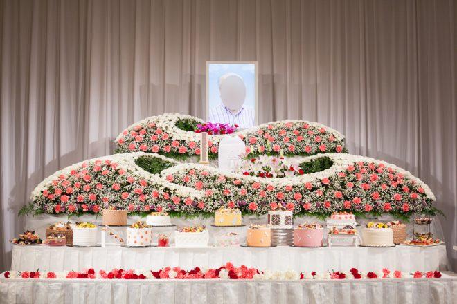 祭壇本番のお写真 献花終了後
